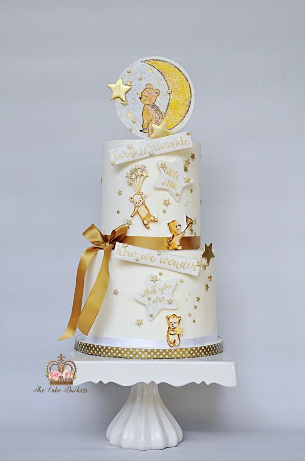 Twinkle Twinkle Little Star Baby Shower Gold and White