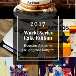 Houston Astros vs Los Angeles Dodgers World Series Cake Edition