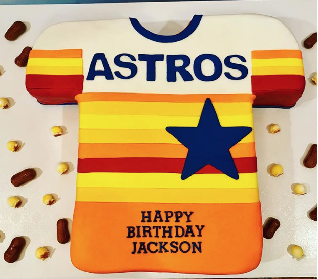 Houston Astros Vs Los Angeles Dodgers World Series Cake Edition