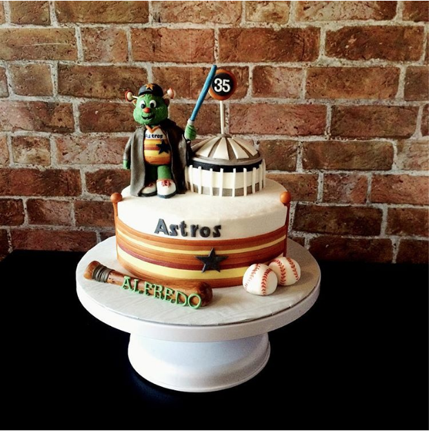 Old School Astros And Astrodome Cake