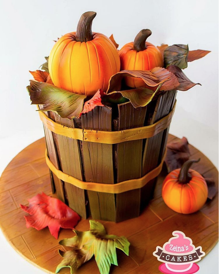 Pumpkin Bucket Cake