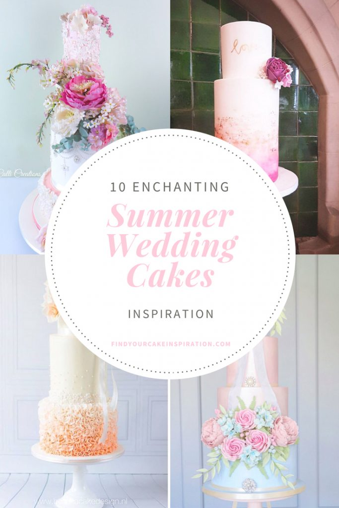 Enchanting Summer Wedding Cakes Collage
