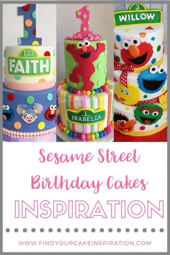 Sesame Street Birthday Cakes Inspiration
