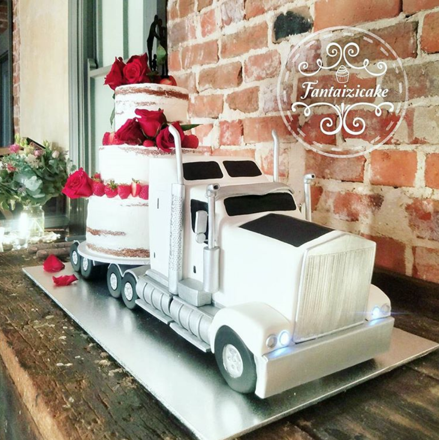 tow truck wedding cake topper wedding cake with truck wedding cake from imacimages co 21116