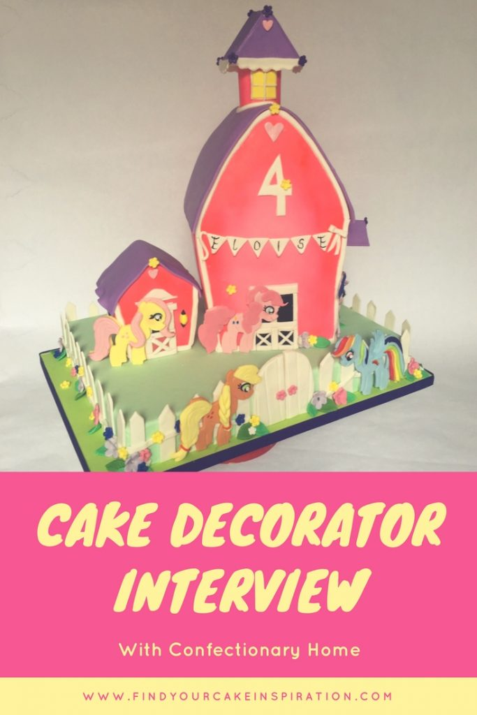 Cake Decorator Interview Collage