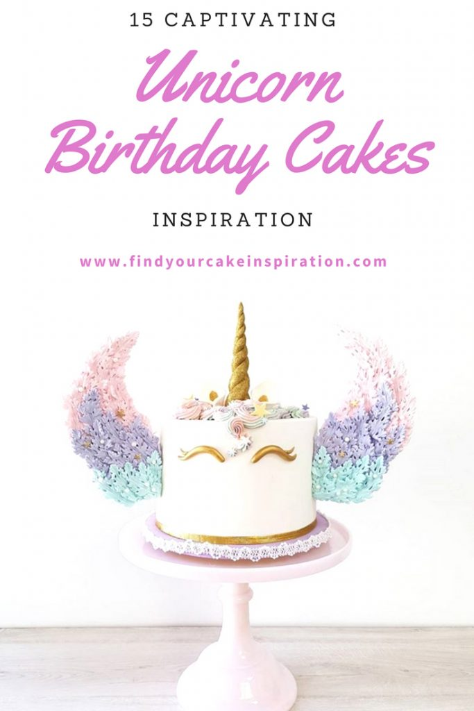 15 Captivating Unicorn Birthday Cakes Pin It Image
