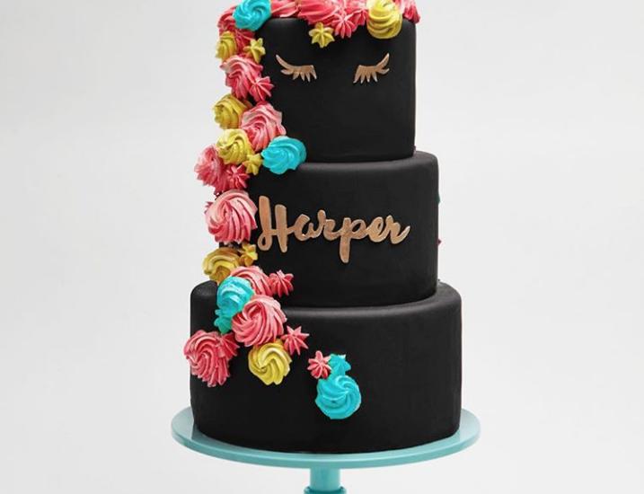Black Unicorn Cake