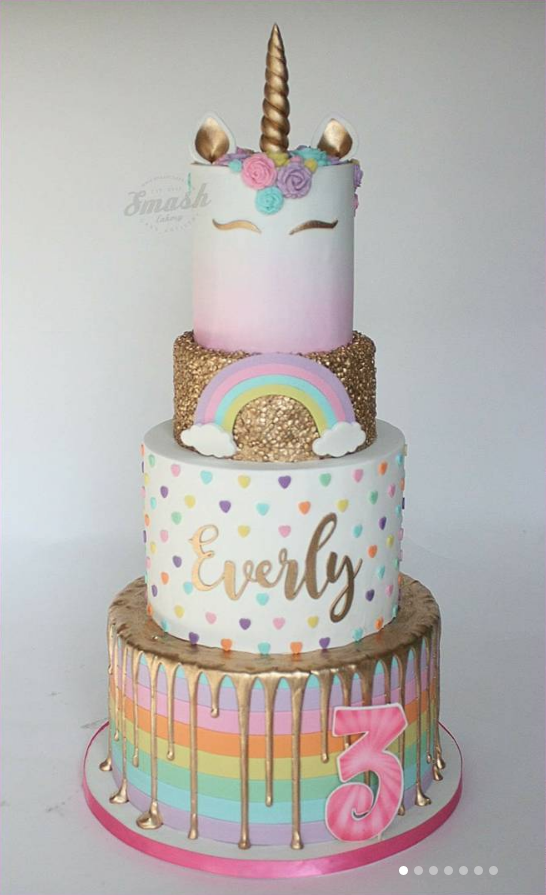 15 Captivating Unicorn Birthday Cakes