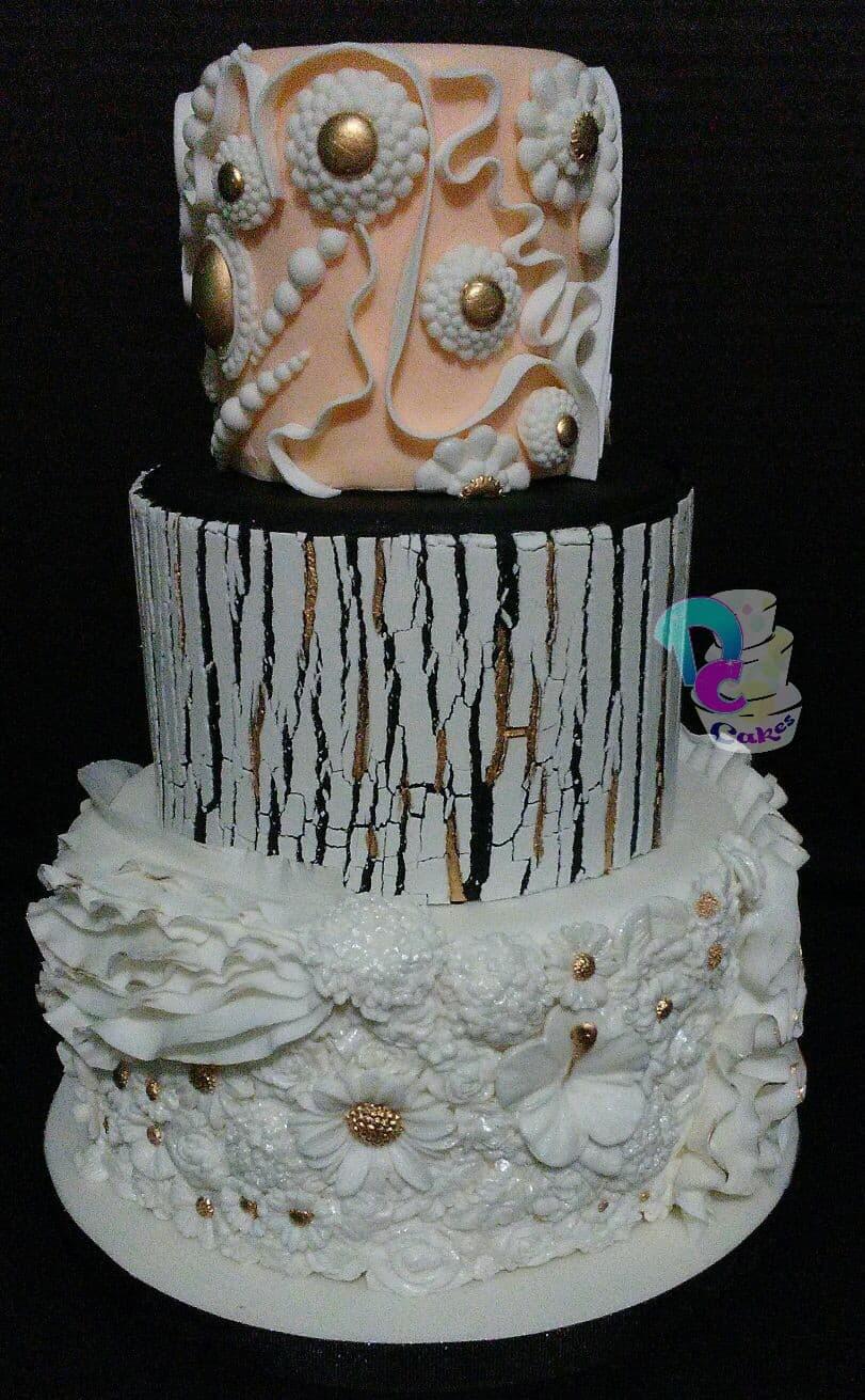 Cracked Wedding cake