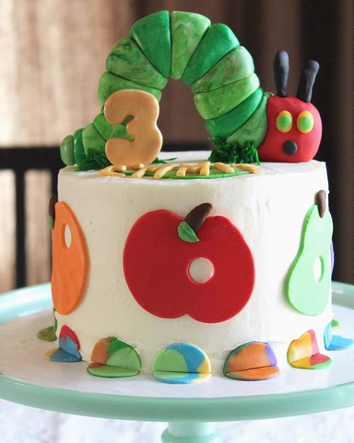 Very Hungry Caterpillar 3rd Birthday Cake