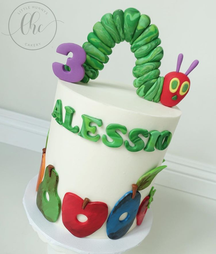 Very Hungry Caterpillar Tall Birthday Cake