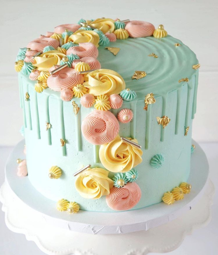 Mint Birthday Drip Cake