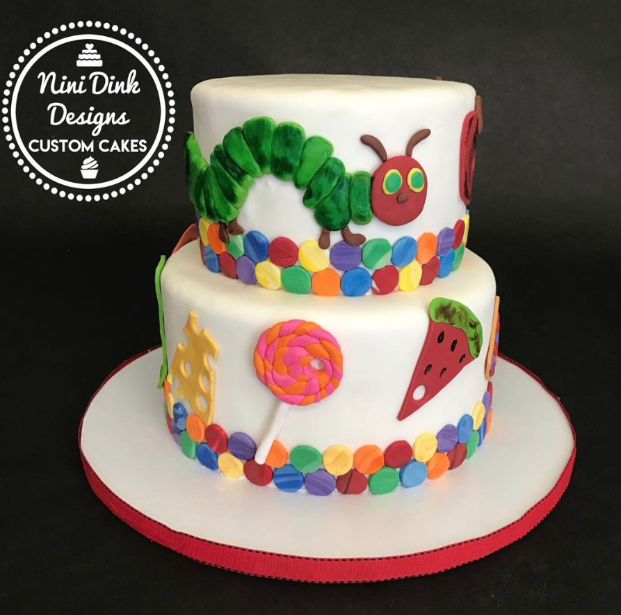 Very Hungry Caterpillar Original Birthday Cake