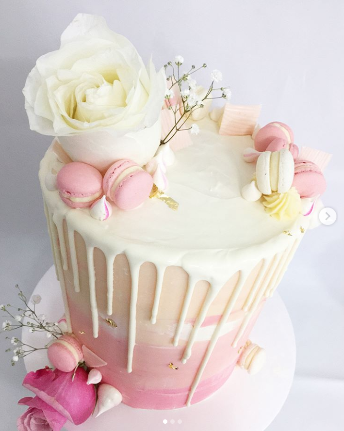 Pretty Pink Birthday Drip Cake