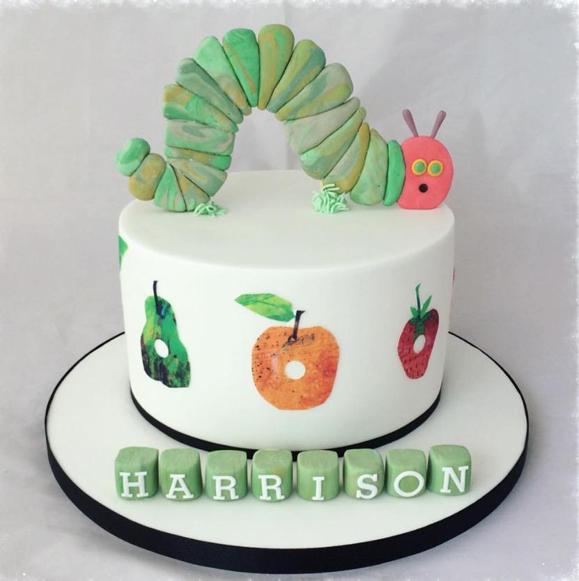 Very Hungry Caterpillar Blocks Birthday Cake