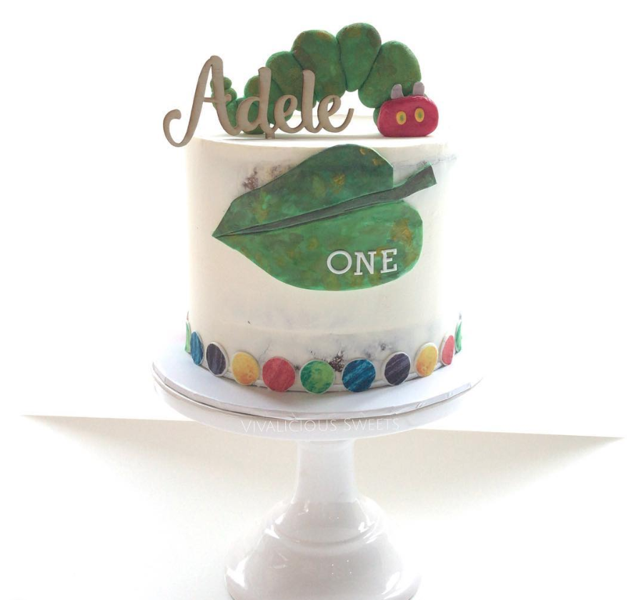 Very Hungry Caterpillar Semi-Naked Birthday Cake
