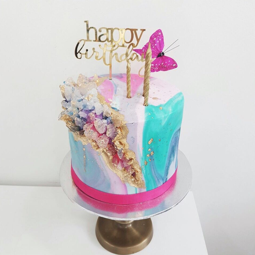 Birthday Geode Cake