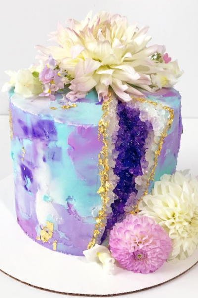 Pretty Purple Geode Cake