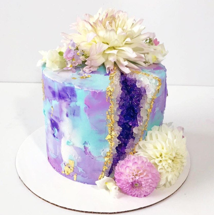 Pretty Purple Geode Cake