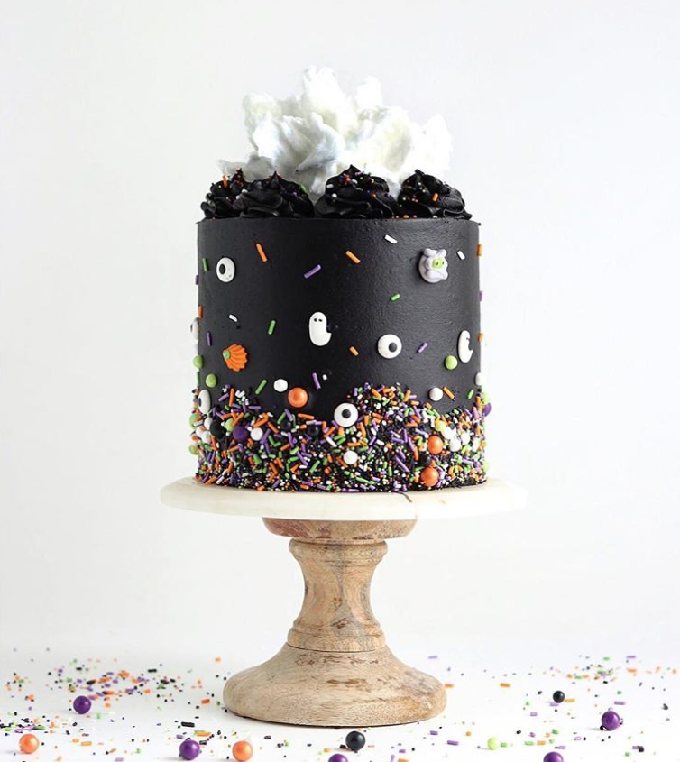 Halloween Sprinkles Cake