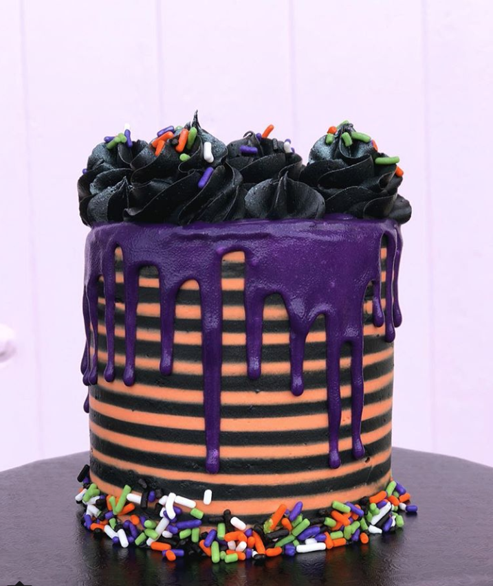 Halloween Striped Cake