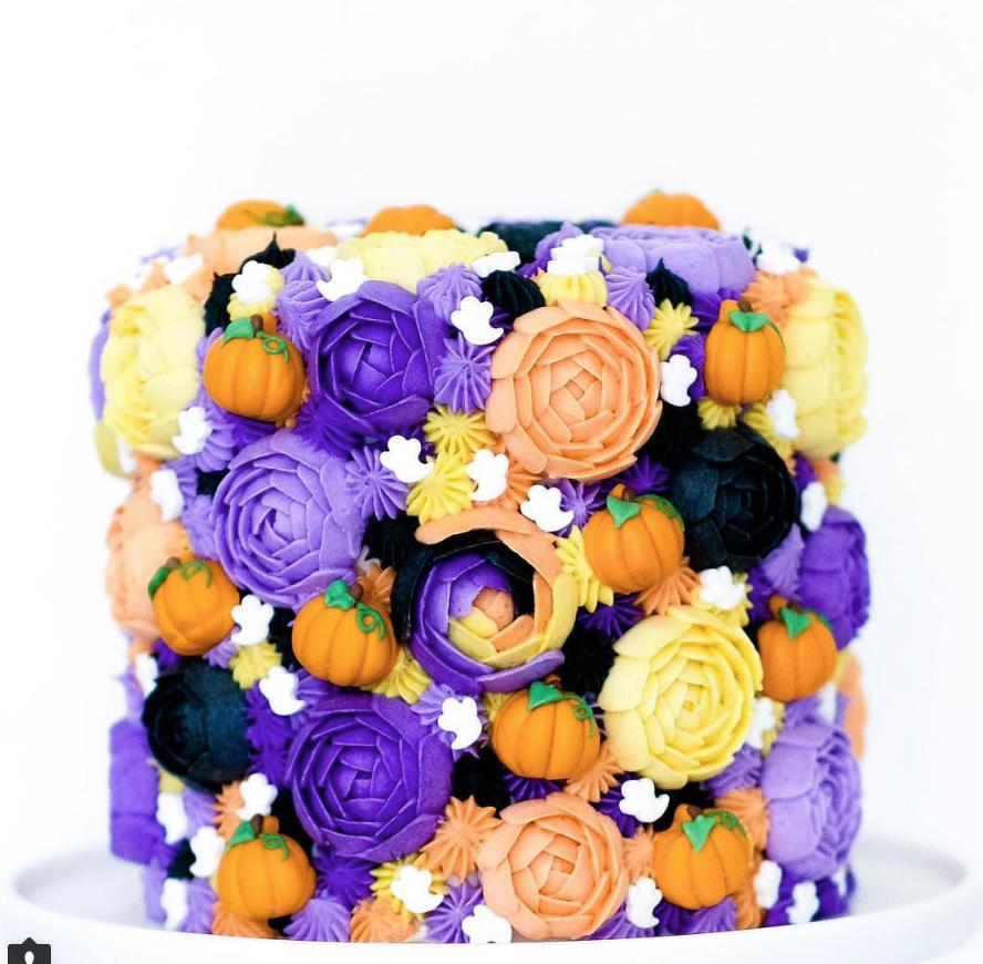 Textured Halloween Cake