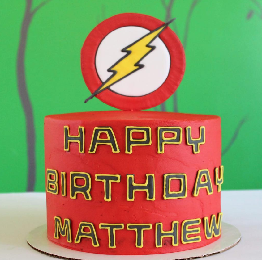 Flash Birthday Cake