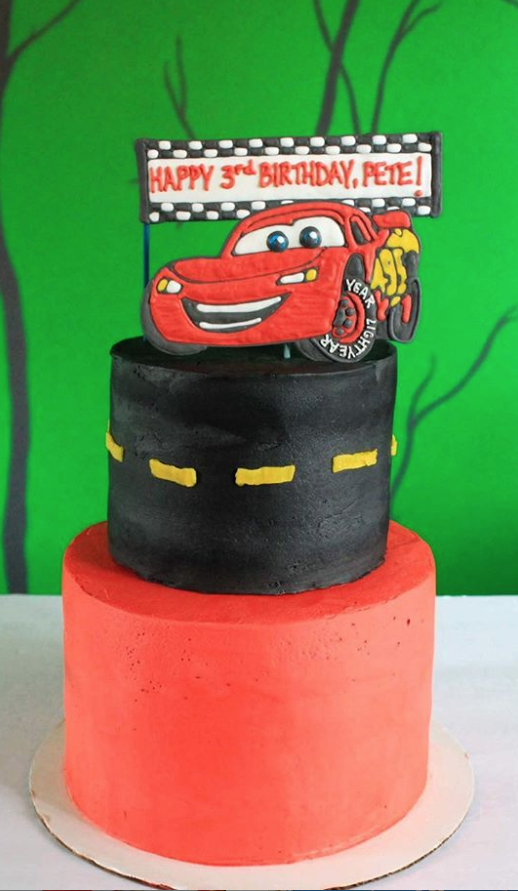 Lighting McQueen Birthday Cake