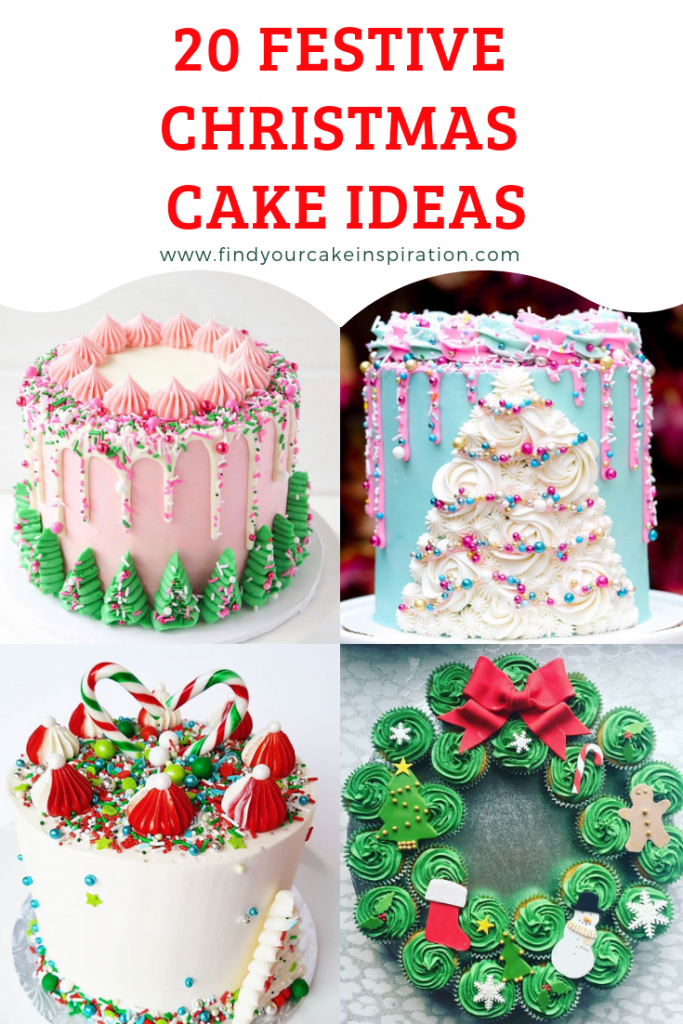 20 Festive Christmas Cakes Inspiration