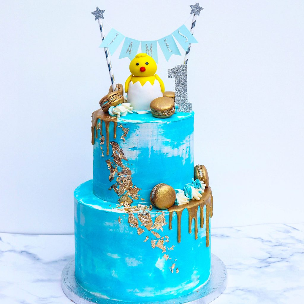 Duck First Birthday Cake