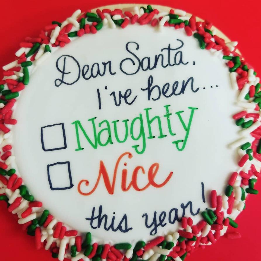 Naughty Or Nice Cake