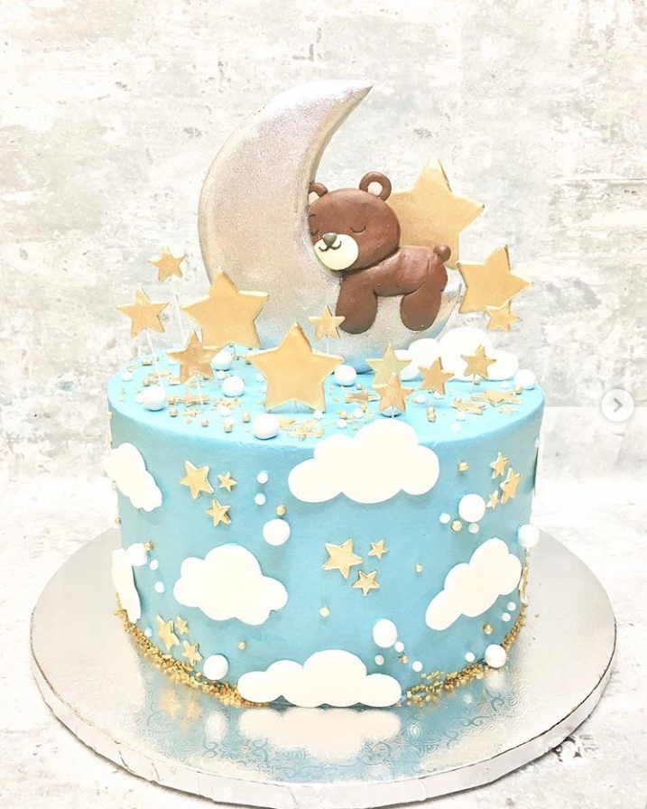 Baby Bear Boy Baby Shower Cake