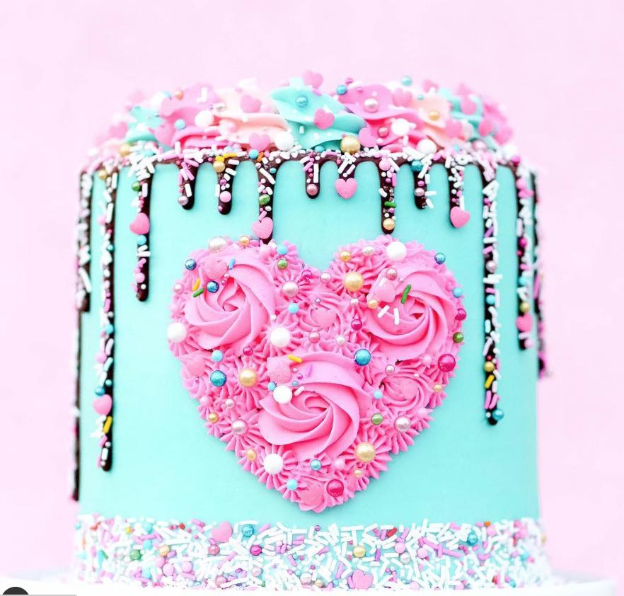 Buttercream Valentine Cake