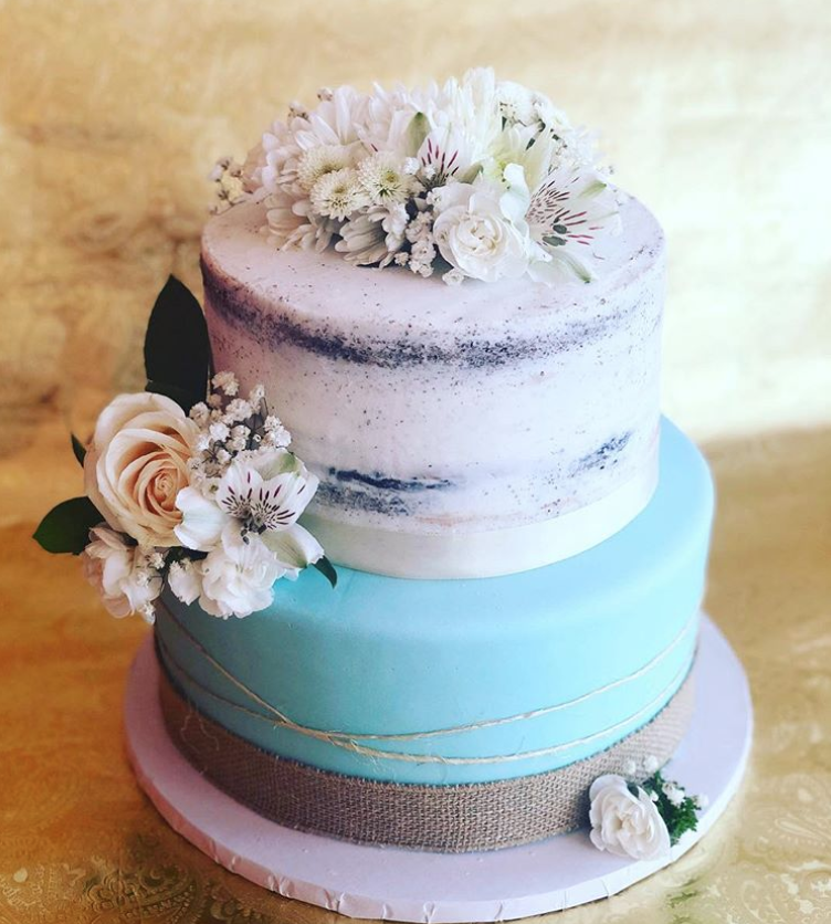 Rustic Baby Shower Cake