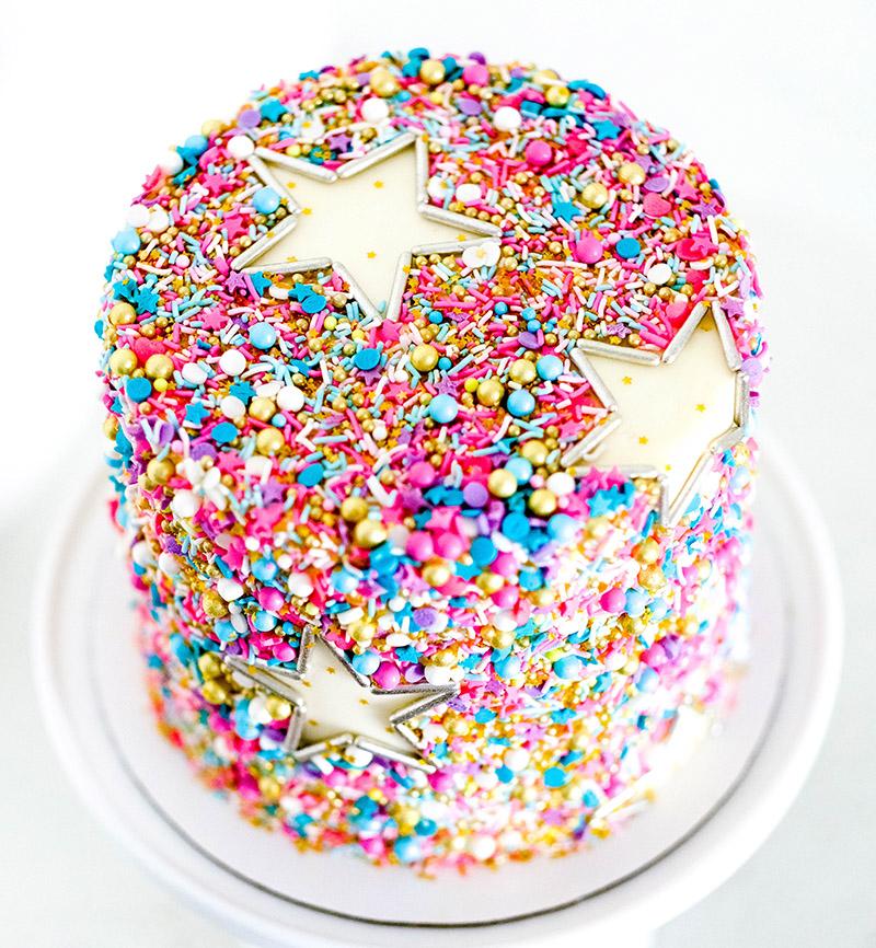 Sprinkle Star Cake