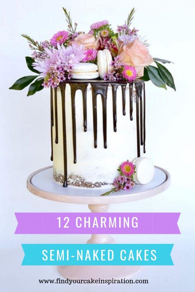 12 Charming Semi-naked cake inspiration