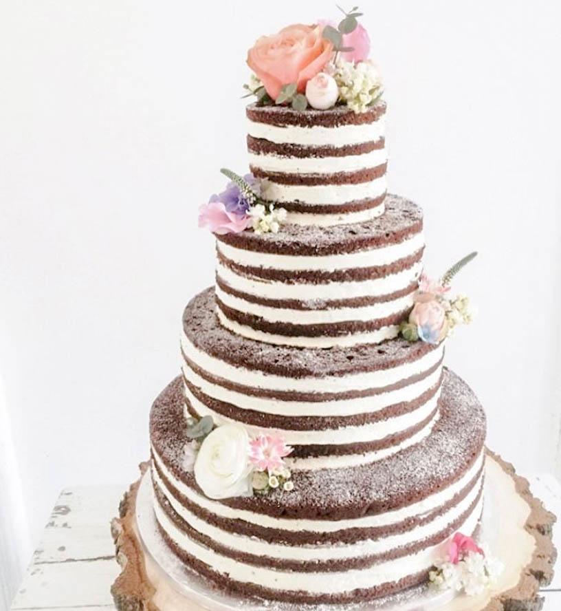 Boho Vintage Semi-Naked Cake
