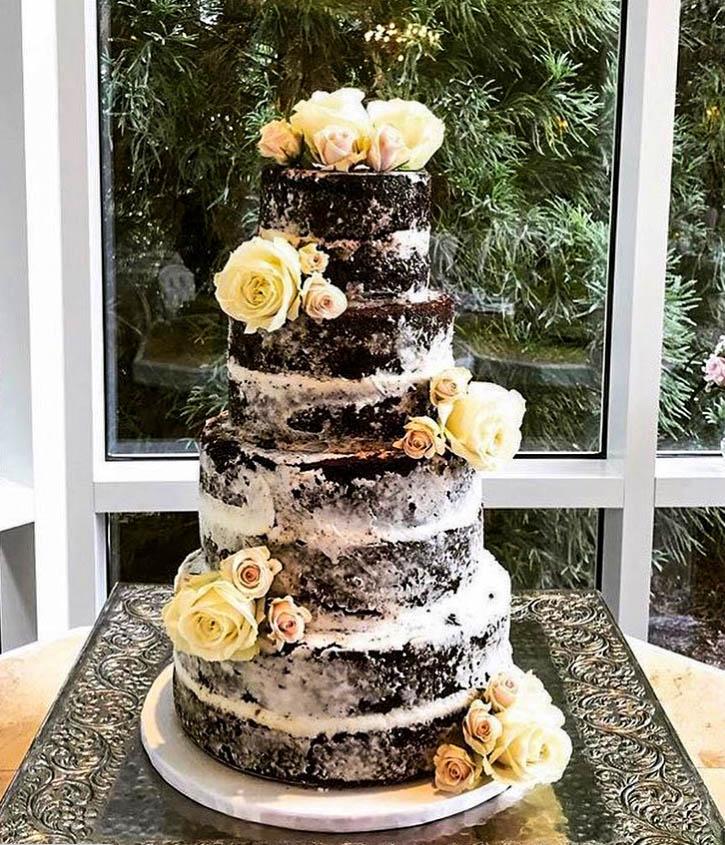 Chocolate Semi-Naked Wedding Cake