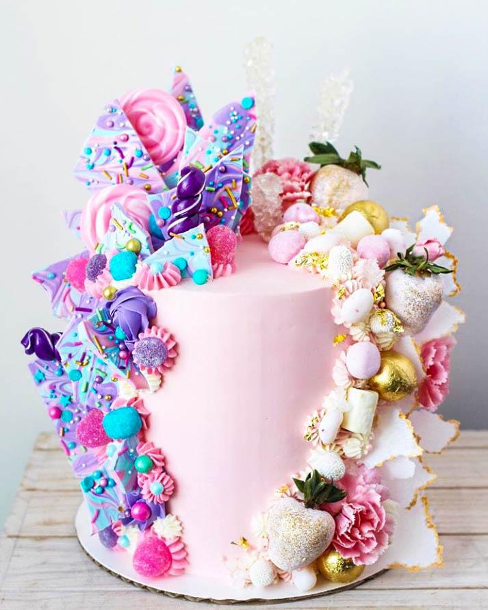 Half & Half Birthday Cakes