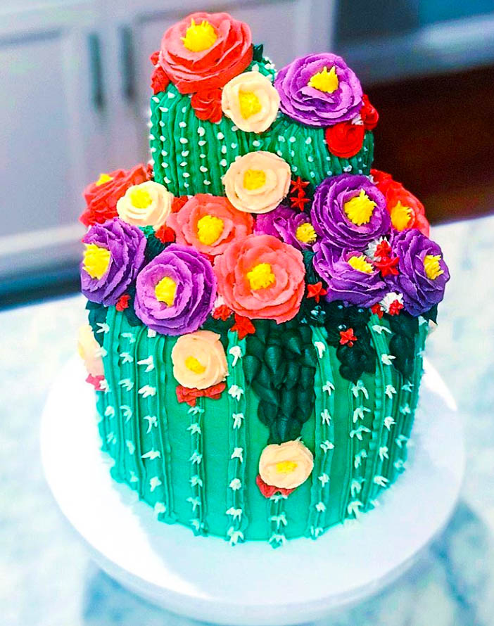 Gorgeous Cactus Cake