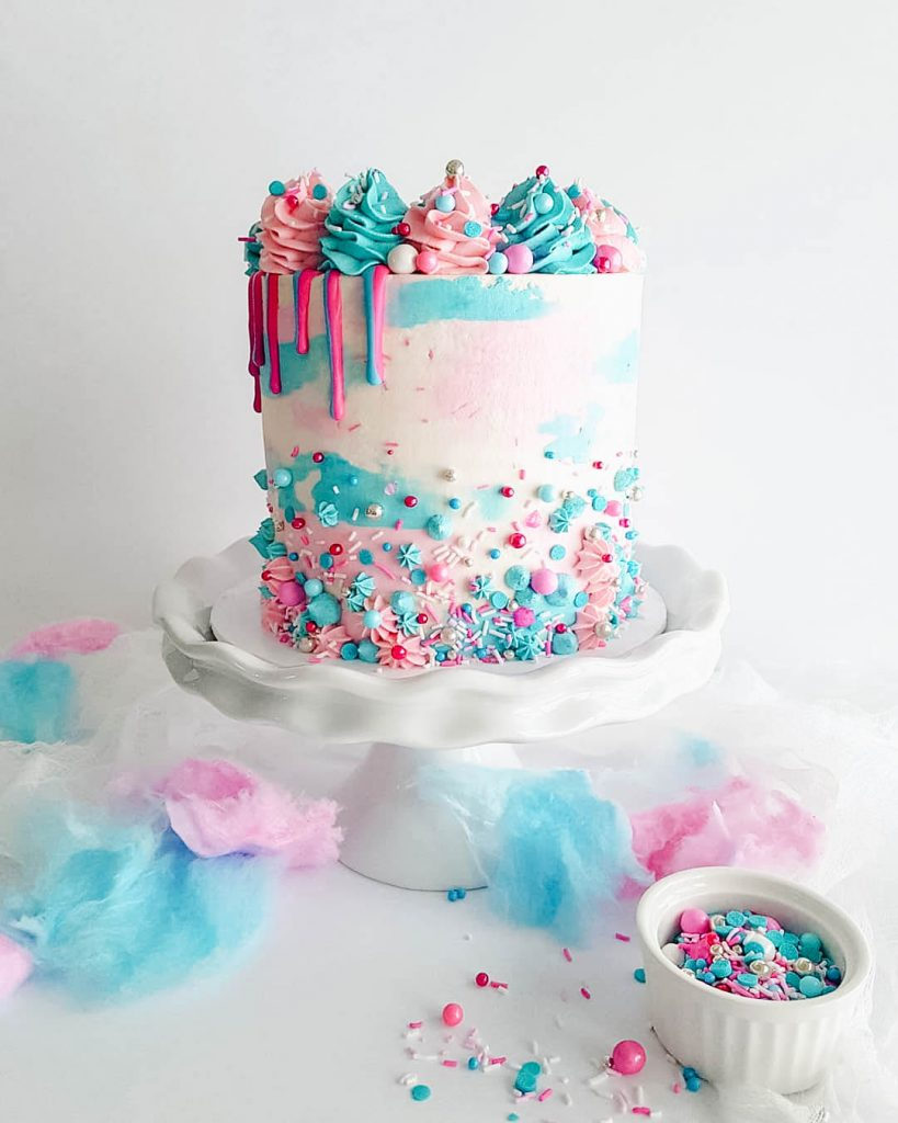 Cotton Candy Sprinkle Cake