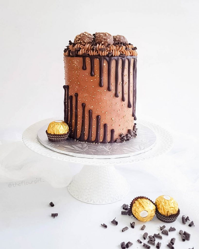 Ferreo Rocher Inspired Cake