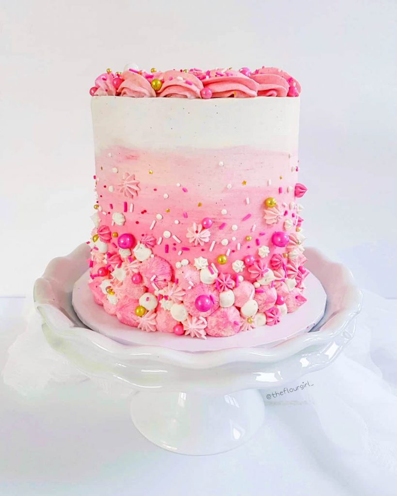 Pink Ombré Champagne Cake