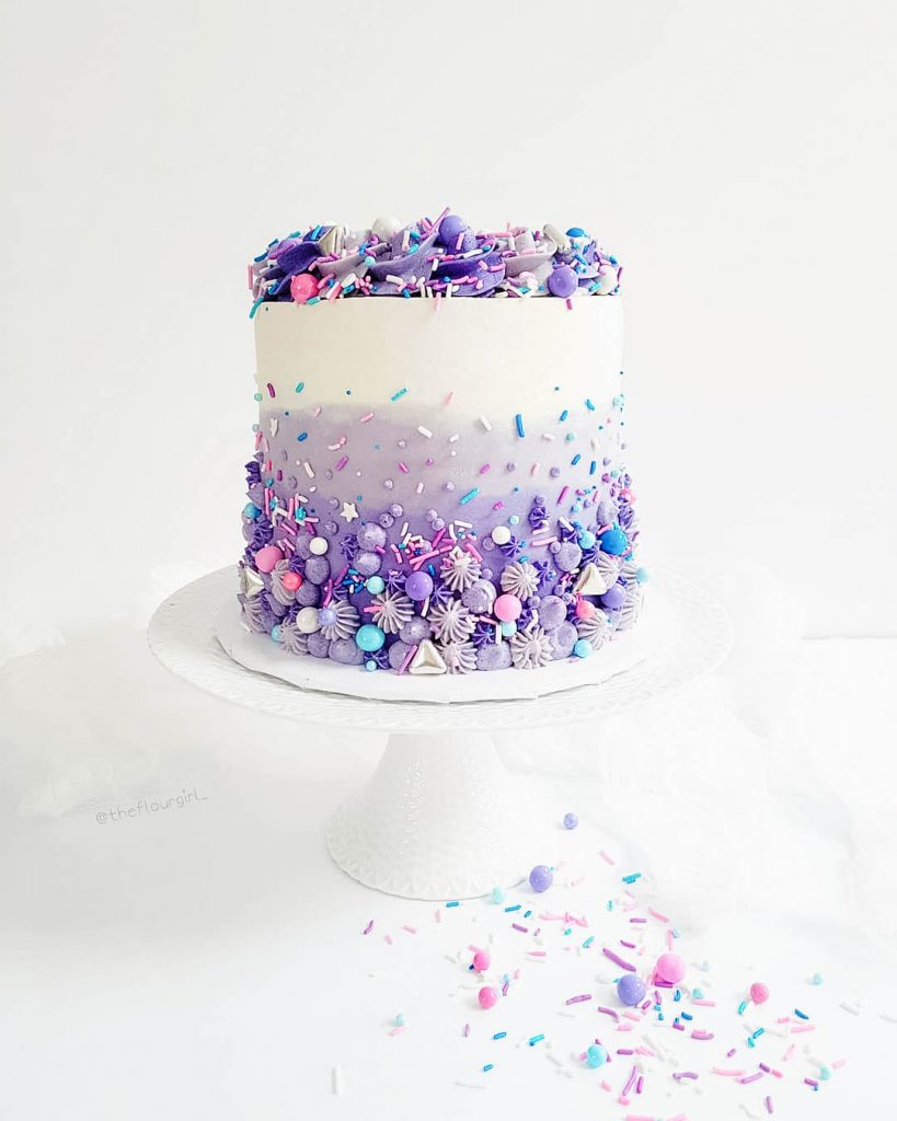 Purple Sprinkle Cake