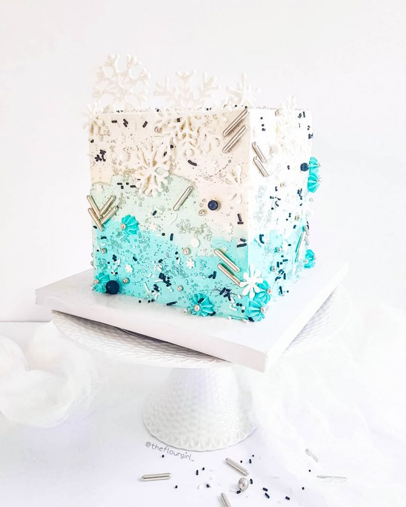 Winter Wonderland Square Cake