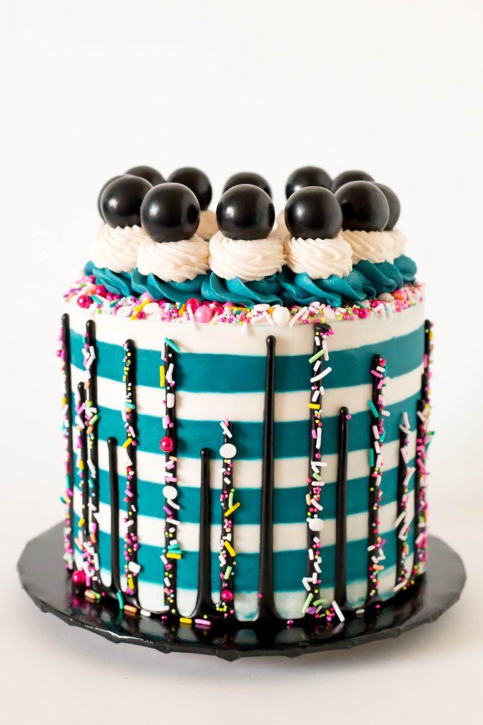 Black Gumball Cake