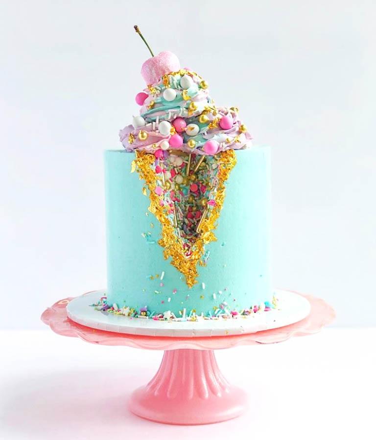 Geode Ice Cream Cake