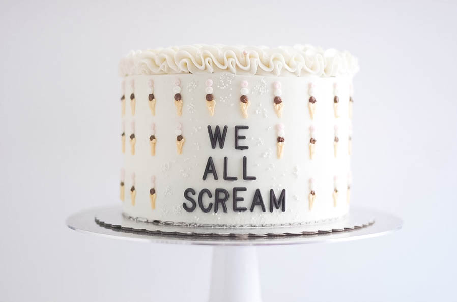 We All Scream Ice Cream Cake