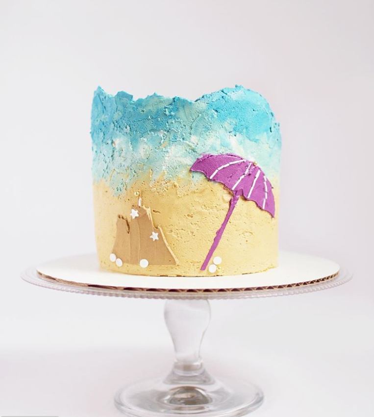 Beach Dreamin' Cake | www.findyourcakeinspiration.com