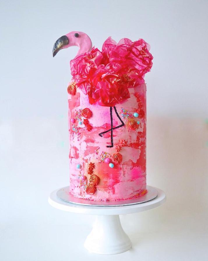 Flamingo Cake | www.findyourcakeinspiration.com